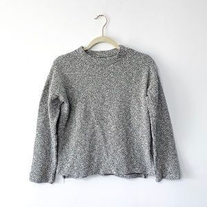 Madewell Marled Mock Neck Gray Sweater